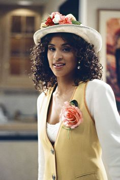 13 Times Hilary Banks' Style Was Fresh To Death #refinery29  http://www.refinery29.com/2016/04/108048/hilary-banks-fresh-prince-90s-fashion-outfits#slide-7  Ah, #TBT to the days when hats (and waistcoats) were Pinterest-worthy....