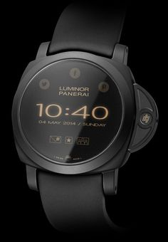 Panerai Luminor Venturo Smartwatch Concept : Concept Smartwatches That Could Be From Popular Swiss Luxury Brands Best Smart Watches, Amazing Watches, Best Watches For Men, Beautiful Watches, Cool Watches, Watches For Men Affordable, Rugged Watches, Panerai Watches, Panerai Luminor