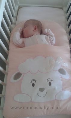 """Baby Emily loves sleeping in her Cotton Candy Nap Mat. She is so cute! Thanks to mummy Katrina who said """"This is my seven week old little girl Emily. She use to hate her crib and would want to sleep anywhere else. She used to constantly kick of the covers but now she is so comfy and loves sleeping in her crib"""". Nonna loves it! :-) • Find out more about Nap Mats: https://nonnasbaby.co.uk/baby-nap-mats/"""