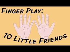 10 Little Friends (fingerplay song for children)