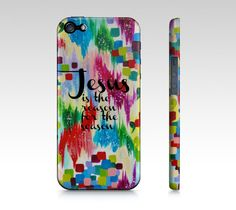JESUS is THE REASON for the Season Christmas iPhone 4 5 5c 6 6 Plus Case, Samsung Galaxy S3 S4 S5 Case by EbiEmporium, Fine Art Abstract Acrylic Ikat Christmas Festive Holidays Painting Design, Whimsical Christ Nativity Winter Gift for Christian, Stocking Stuffer, Colorful Polka Dots Typography