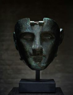 Bronze parade mask of the Nijmegen-Kops type. Western Europe. Roman Empire. 1st century A.D. | Master Art Gallery