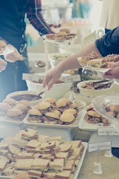 Wedding Reception Food...Yummy  The Lady & Rock's Genese Gigi Trèmel for Erika Chambers Photography