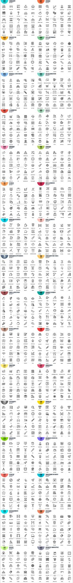 Line Icons Vector EPS, AI Illustrator