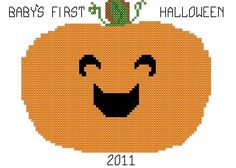 A personal favorite from my Etsy shop https://www.etsy.com/listing/79633561/babys-first-halloween-cross-stitch