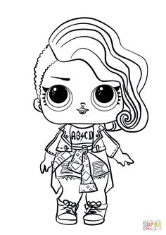 lol surprise doll rocker coloring pagepng 8481199