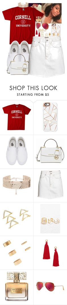 """""""Shawty what you think bout that...."""" by lulu60roxs ❤ liked on Polyvore featuring Casetify, Vans, Michael Kors, Forever 21, Givenchy and Ray-Ban"""