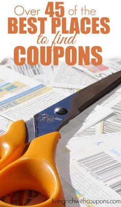 Over 45 of the Best Places to Find Coupons - Updated for 2016!