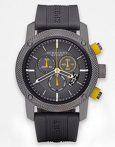 Men's Rubber Chronograph Watch