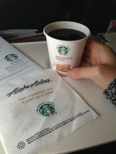 Alaska Airlines always serving up the best of the PNW on their flights! Coffee Tasting, Coffee Drinkers, I Love Coffee, Coffee Shop, Alaska Airlines, Coffee Company, Starbucks, Beverage, Catering