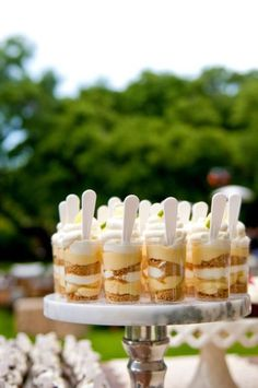 Mini Banana Pudding Shots. excellent cocktail hour delight
