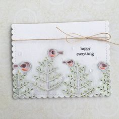 Little Bitty Bird Revisited: Happy Everything Card by Heather Nichols for Papertrey Ink (September 2016)