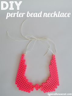 DIY Jewelry DIY Necklace  : DIY Perler Bead Statement Necklace. Looks like a collar