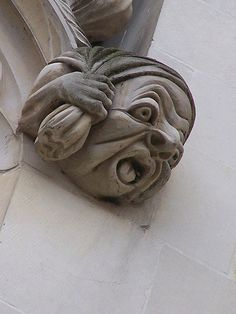 Canterbury Cathedral: I love this little funny face. Weird Creatures, Mythical Creatures, Stone Sculpture, Sculpture Art, Canterbury Cathedral, Canterbury Kent, Gothic Gargoyles, Architectural Sculpture, Green Man