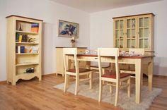 Bücherregal Bogota massiv Pinie gebeizt & lackiert Wohnzimmer Schrank