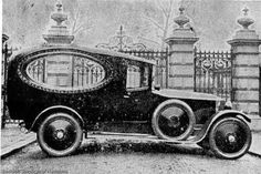 Old hearse at East London Cemetery gates. Hearse at East London Cemetery.