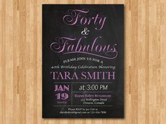 Purple invitations- should be cheap to get with a four person guest list- two of which will plan the thing.... :)