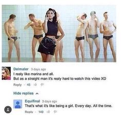 I remember seeing this wAY before I knew of Marina hahah -a