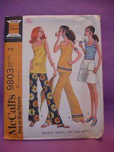 McCalls Sewing Pattern 9803