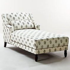 loving this chaise lounge from world market. reading area in home office. by bette