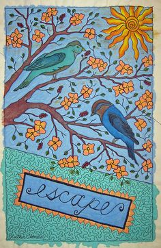 Heather Thomas mini art quilt