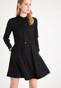 G-Star - CORE FLARE DRESS L/S - Paitamekko - black