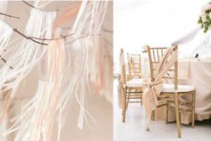 Love how the bow is tied on the chairs! Wedding Trends: Pastels, From Lavender to Creme and Sweet Mint Green