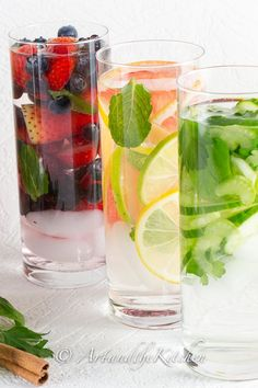 Simple fresh fruits vegetables and herbs in these Diet Boost Flavored Water recipes will help keep your diet on track Seven days of delicious recipes will keep you sipping all day long Detox Drinks, Healthy Drinks, Healthy Recipes, Delicious Recipes, Simple Recipes, Pinterest Foto, Flavored Water Recipes, Clean Eating, Healthy Eating