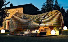 Holzüberdachung