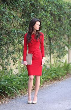 Ralph Lauren Red Crewneck Dress | Skirt the Ceiling | http://skirttheceiling.com
