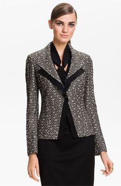 St. John Collection Toscana Tweed Knit Jacket available at #Nordstrom