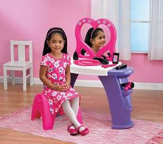 Deluxe Beauty Salon Playset with Lighted Mirror #ad