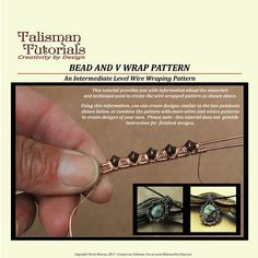 TUTORIAL: Wire Wrapping Pattern Bead and V Wrap Design.