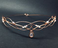 Excited to share this item from my shop: Copper (Rose Gold) Bridal Circlet Swarovski Crystal Celtic Headpiece Medieval Headdress Wedding Tiara Elven Crown Cute Jewelry, Hair Jewelry, Wedding Jewelry, Jewelry Accessories, Bridal Accessories, Headpiece Jewelry, Wedding Headdress, Wedding Veils, Fairy Wedding Dress