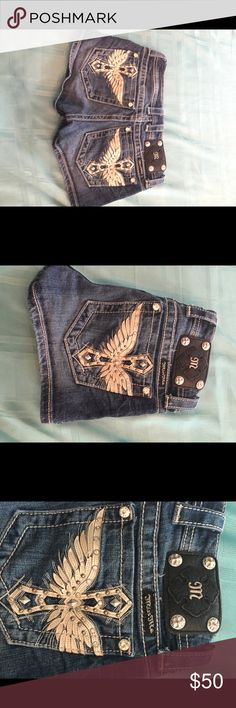 Miss me Jean short shorts Miss me Jean shorts. One of a find. I haven't seen these anywhere. Beautiful on. Miss Me Shorts Jean Shorts