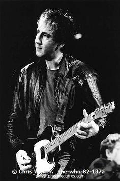 The Who  Photo Caption: The Who 1982 Pete Townshend at LA Coliseum � Chris Walter