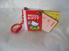 Sanrio Hello Kitty Miniature Key Chain Phone Book Car Vintage 1976 New | eBay