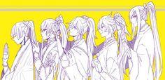 長髪刀剣ズ なんか可愛い(✿︎´ ꒳ ` )♡︎  LONG HAIRED SAMURAI DUDES MAN THEY DO THINGS TO ME