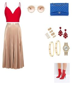 """""""Untitled #179"""" by gcardentey on Polyvore featuring A.L.C., Rasario, Public Desire, Chanel, L. Erickson, Rolex, Cartier, Forever 21 and Gucci"""