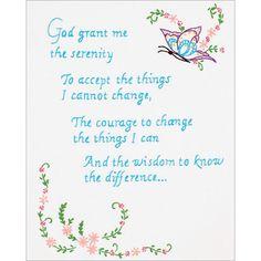 "Stamped White Sampler 11""X14""-Serenity Prayer"