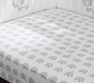 Gray Elephant Crib Fitted Sheet - Pottery Barn Kids