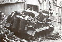 Tiger destroyed during the battle in the afternoon of 13 June 1944 in Villers-Bocage