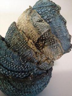 Ceramica con impresiones textiles Adriana Dorantes