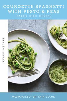 Courgette Spaghetti with Pesto & Peas  #Paleo #food #recipe #keto #diet
