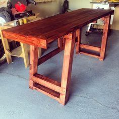 Spruce 2x4 wood work bench (Fleetham Design)