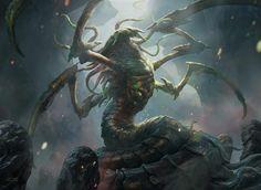 ArtStation Illustration for a Magic: The Gathering card - Sliver Hiverlord, Aleksi Briclot