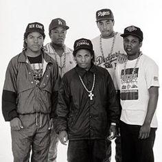 NWA Ice Cube Eazy E MC Ren Dr Dre & Ol' Yella #OldSchool #legends #hiphop #rap #gangsterrap #music #culture #emcees #DJs