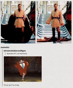 Obi Wan Kenobi and Anastasia Disney Pixar, Disney And Dreamworks, Disney Marvel, Obi Wan, My Tumblr, Tumblr Funny, Star Wars, Fandoms, Cw Series