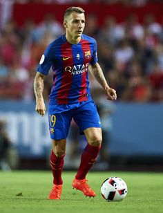 Lucas Digne Of Fc Barcelona In Action During The Match Between Sevilla Fc Vs Fc