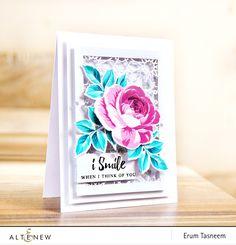 Altenew Build-A-Flower Rose and Dodec Cover Die | Erum Tasneem | @pr0digy0 | @altenew